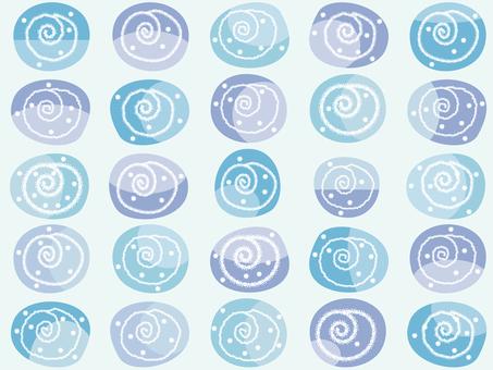 패턴 _ 소용돌이 블루