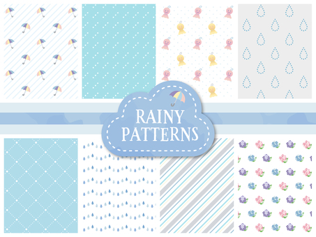 Cute rainy day image pattern