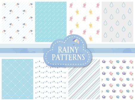 可愛的雨天圖像模式