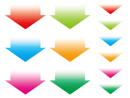 Set of gradient arrows