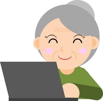 Elderly people · personal computer