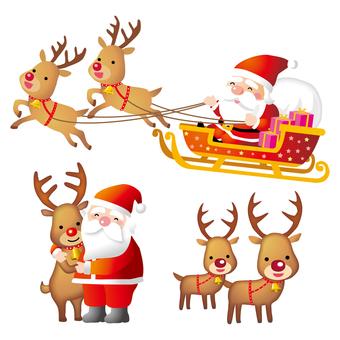 산타와 순록 컷