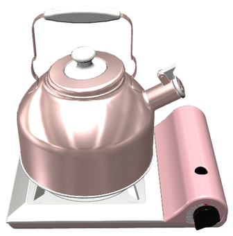 Cassette stove and kettle