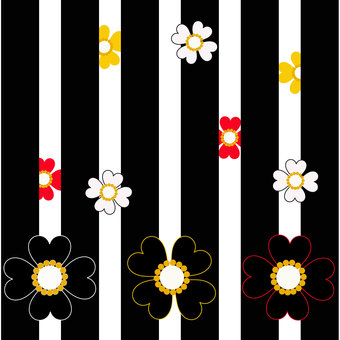 Black stripes and flowers