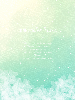 Hydrangea frame 04 / green