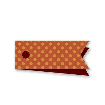 Polka dot tag (brown)
