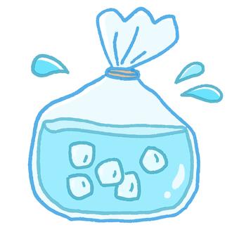 氷嚢|シルエット イラストの無料ダウンロードサイト「シルエットAC」