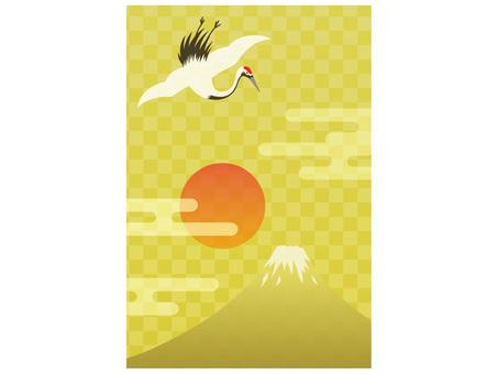Tsuru and Mt. Fuji
