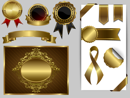 Gold / medals / badges / ribbons