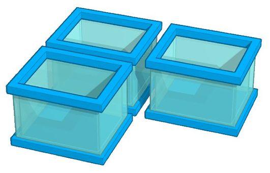 반투명 플라스틱 상자