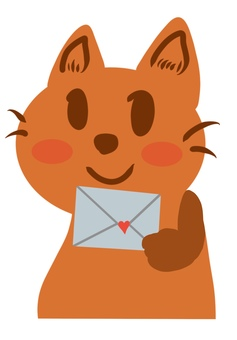 Letter and cat