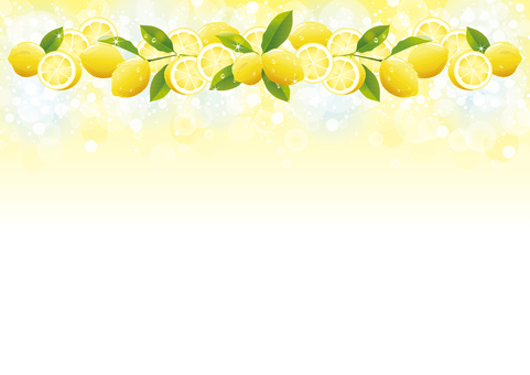 Drip and lemon background from above