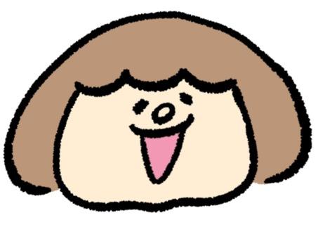 Girl facial expression (Ahaha)