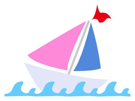 波とヨット