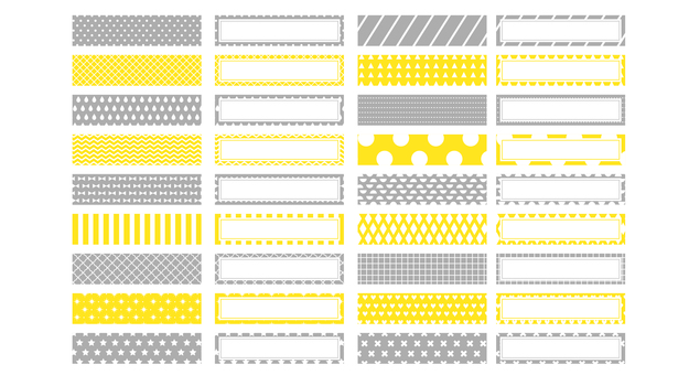 Put the names of yellow and gray masters