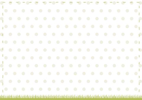 Stitched frame turf dot background