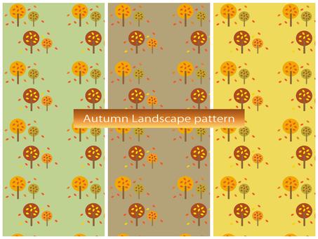 Fall landscape pattern material set A