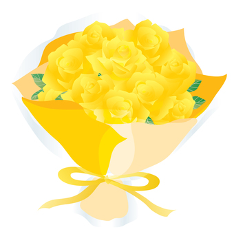Rose bouquet 01 yellow
