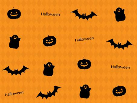 Halloween pattern _ orange