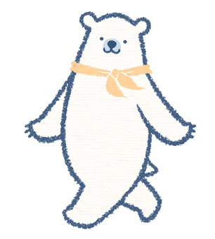 Scarf polar bear