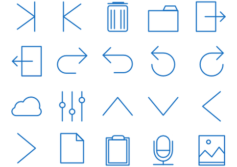 20 simple icons 2