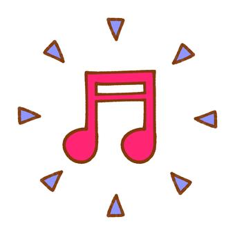 Sound note (pink)