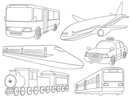 Vehicle set monochrome