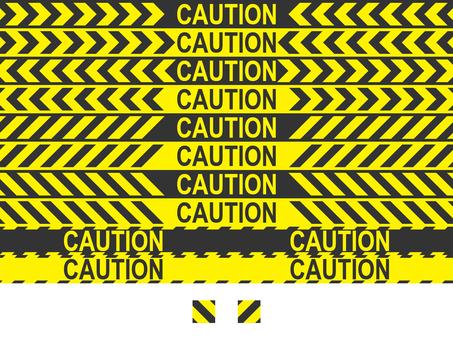 Label - CUUTION line
