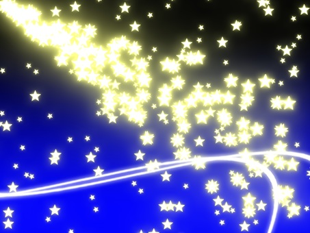 Particle star (background blue)
