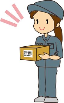 Female delivery staff