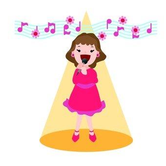 A solo singer