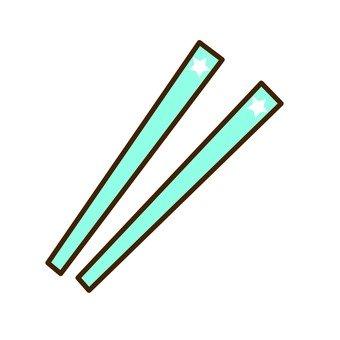 Chopsticks (light blue)