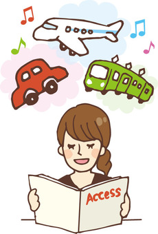 People who read books (magazines, transportation means)