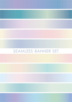 Seamless banner set