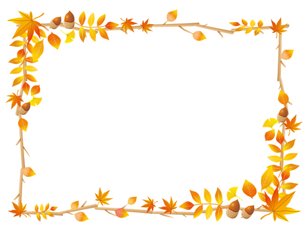落葉和樹枝的框架