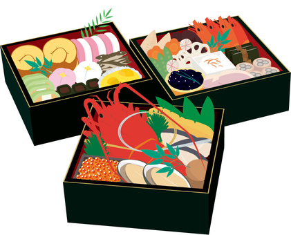 Osechi cooking three-stage heaviness