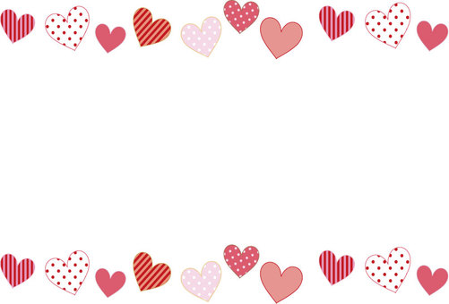 Cute heart simple postcard