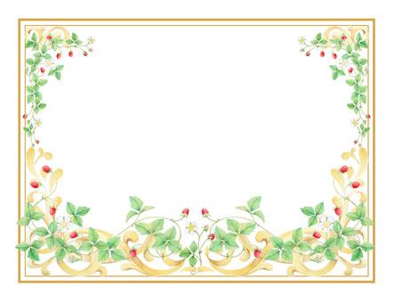 Frame decoration wild strawberry ★ 0040-W