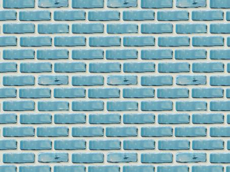 Blue brick wall