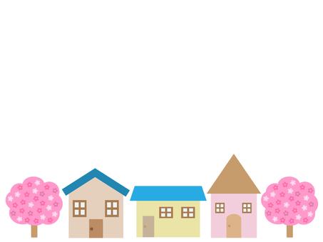 벚꽃 나무와 집