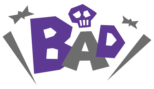 BAD pop logo ☆ bad
