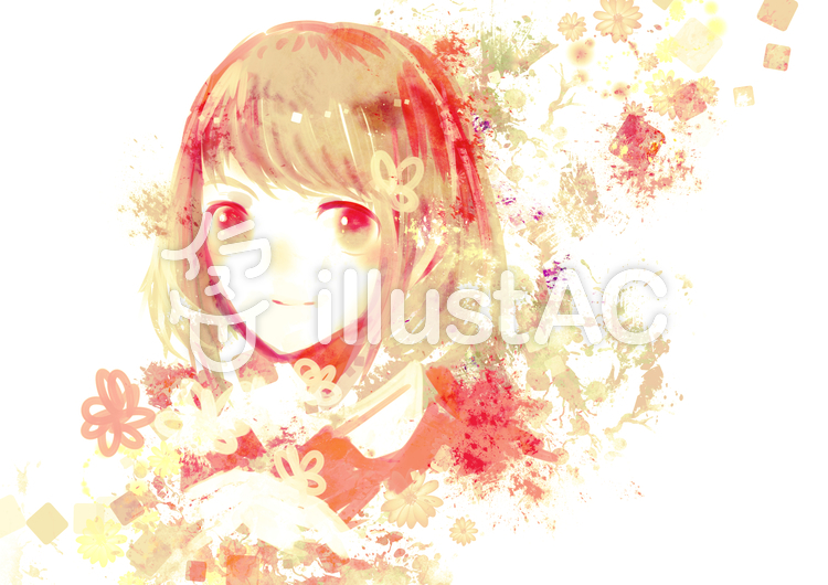 花と女の子イラスト No 914946無料イラストならイラストac