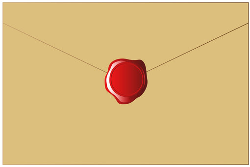 Letter with wax seal vector
