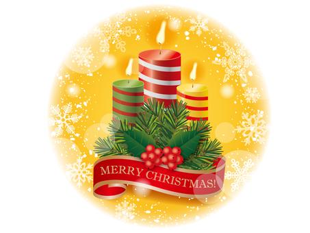 Christmas ___ candles _ yellow