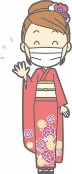 Kimono female a-mask - whole body