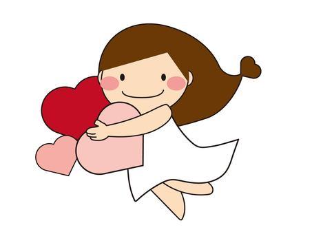 一個女孩抱著一顆心