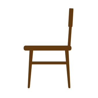 Left-facing wooden chair