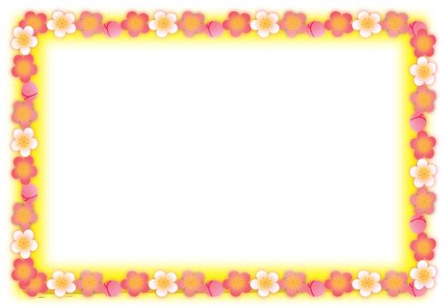 梅花框架黃色