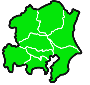 Kanto (with prefectural border)