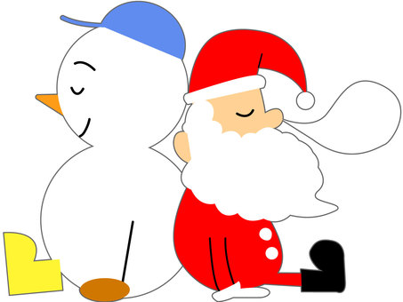 Sleeping Santa and Snowman 1